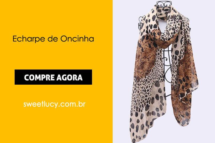 echarpe de oncinha online sweet lucy